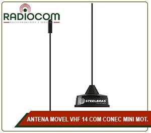 ANTENA MOVEL VHF 14 COM CONECTOR MINI MOTOROLLA