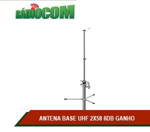 ANTENA BASE UHF 2X58 6DB GANHO
