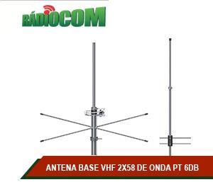 ANTENA BASE VHF 2X58 DE ONDA PT 6DB GANHO
