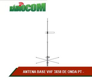 ANTENA BASE VHF 3X58 DE ONDA PT
