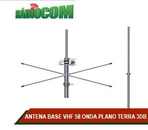 ANTENA BASE VHF 58 ONDA PLANO TERRA 3DB