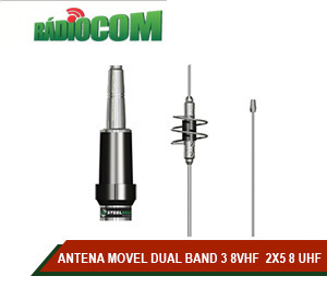 ANTENA MOVEL DUAL BAND 3 8VHF  2X5 8 UHF