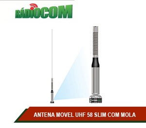 ANTENA MOVEL UHF 58 SLIM COM MOLA