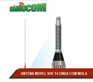 ANTENA MOVEL VHF 14 ONDA COM MOLA