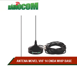 ANTENA MOVEL VHF 14 ONDA WHIP BASE MAG RG58