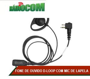 FONE DE OUVIDO D-LOOP COM MICROFONE DE LAPELA - EP