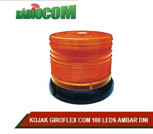 KOJAK GIROFLEX COM 100 LEDS AMBAR DNI