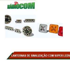 LANTERNAS DE SINALIZAÇÃO COM SUPER LEDS