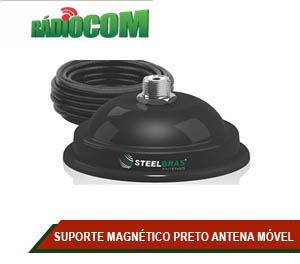 SUPORTE MAGNÉTICO PRETO ANTENA MÓVEL